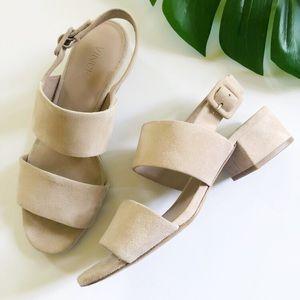Vince Taye City Blush Pink Block Heeled Sandals